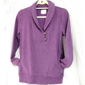 Banana Republic purple collared sweatshirt